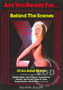 Behind The Scenes Of An Adult Movie Box Cover