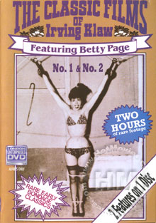The Classic Films Of Irving Klaw - Featuring Betty Page No. 1 Box Cover