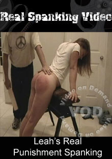 Leah's Real Punishment Spanking Box Cover