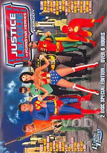 The Justice League of Pornstar Heroes XXX: An Extreme Comixxx Parody (Disc 1) Box Cover