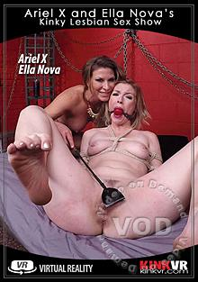 KinkVR - Ariel X And Ella Nova's Kinky Lesbian Sex Show Box Cover