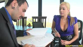 Big Tits On The Clock: The Blonde Boss Edition Clip 3 01:10:00