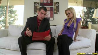 Big Tits On The Clock: The Blonde Boss Edition Clip 4 01:45:40