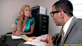 Big Tits On The Clock: The Blonde Boss Edition Clip 5 02:18:00
