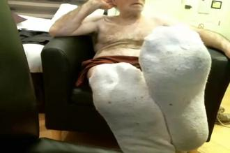 Coach Karl Socks, Bare Feet, and Jack Off in His Favorite New Chair Clip 1 00:06:00